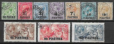 British Levant stamps 1921 SG 41-50  CANC  VF