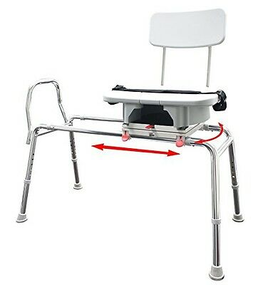 Eagle Health Transfer Bench with Cut-Out Molded Swivel Seat / Back Size: Regular