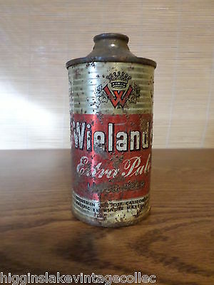 Vintage  Wielands Extra Pale Low Profile  Cone Top Beer Can 189-13