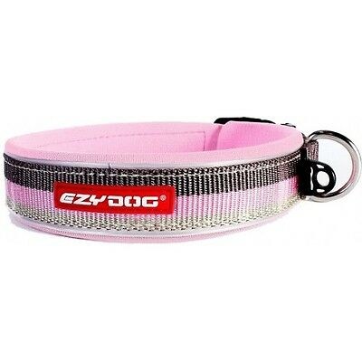 EZYDOG - Neo Dog Collar Candy Stripe Pink Large 46-51cm - Free Delivery