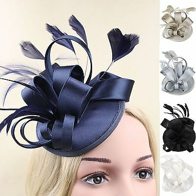 Kentucky Derby Feather Fascinator Hat Headband Cocktail Wedding Party Headpiece