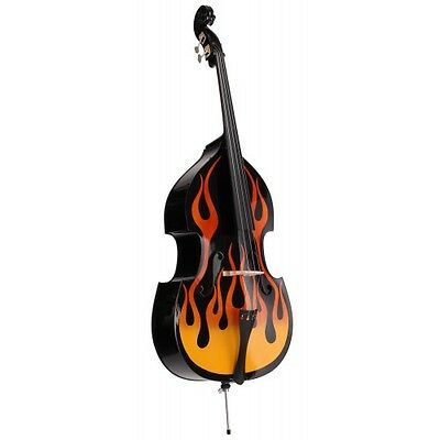 Ref. 36750 Classic Cantabile RDB-59 Flames double bass 3/4