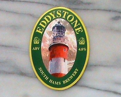 SOUTH HAMS EDDYSTONE REAL ALE BEER PUMP CLIP SIGN Lighthouse Theme