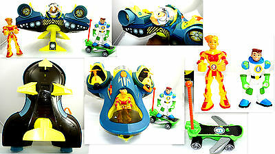 Fisher Price Planet Heroes Lot Space Ship + Figures + Vehicles + Accessories