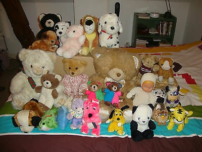 Enorme lot de 26 peluches