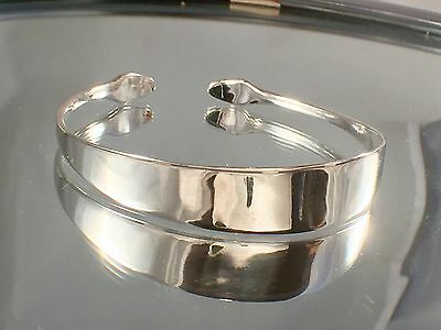 Legally Sold Solid Sterling Silver Sugar Tong Bangle 1906 CW Fletcher SHEF 6.5CM