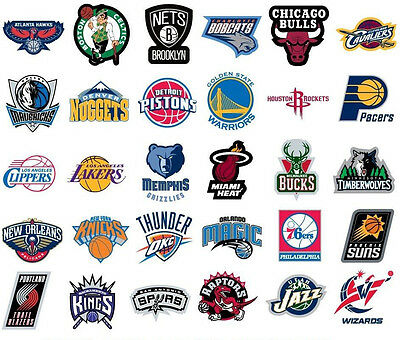 NBA Sticker / Aufkleber - Basketball - Teamlogo - Alle Teams