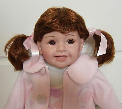 """CATHAY COLLECTION~'GIGGLES'?~Vinyl & Cloth Doll~She laughs!~20""""~EUC"""