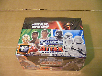 sealed BOX of STAR WARS FORCE ATTAX trading cards (24 packets in box)