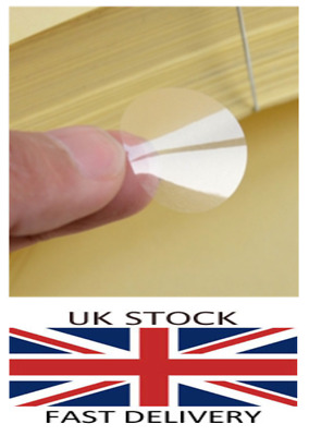 19mm Clear Round Gloss Self Adhesive Packing Seals Labels Stickers Buy2Get1Free!