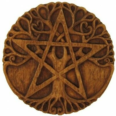 Tree Pentacle Plaque Wood Finish