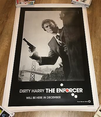 """The Enforcer"" Clint Eastwood, Advance Movie Poster, Linen"
