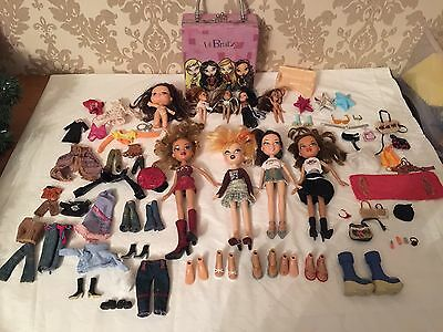 Bratz Doll Bundle - Big & Lil Bratz And Case Accessories Clothes Shoes