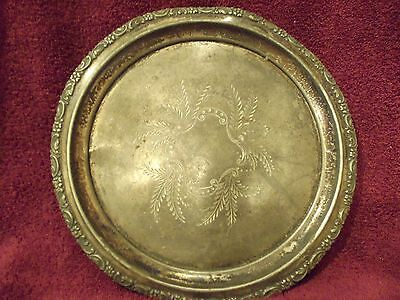 Vintage Forbes Silver Co. Quadruple Silver Plated Plate Charger Tray 310