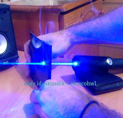 Super Powerful Blue Laser Pointer Pen Focusable Burn Beam Wicked 445nm 1mw Lazer