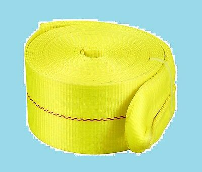 TEKTON Recovery Strap 30-Ft by 4-In snatch pulling polyester tow loops braided