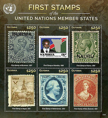 Guyana 2015 MNH First Stamps UN United Nations Member States 6v M/S I
