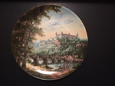 Kaiser Porcelain 'Departure from Wuerzburg' plaque plate with certificate