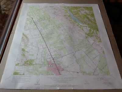 "1955 DEPT OF INTERIOR TOPO MAP LOT #68, GILROY, CALIF., COYETTE LAKE 22""x27"""