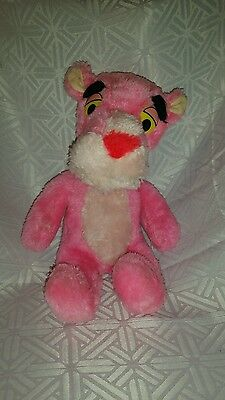 Vintage Toy 1980 Mighty Star Pink Panther Collectible Plush Doll Figure