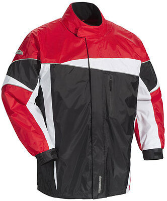 TOURMASTER Defender 2.0 Two-Piece Motorcycle Rainsuit (Black/Red) 2XL (2X-Large)