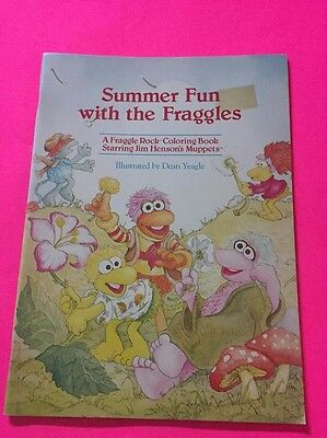 Summer Fun With The Fraggles Coloring Book Vintage 1985 Jim Henson Muppets