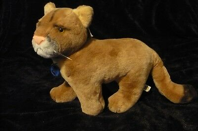 NATURE BABIES Vintage realistic Dakin Plush Cougar with tags #1