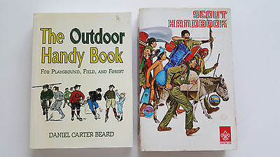 Lot of SCOUTING books--SCOUT HANDBOOK AND OUTDOOR HANDY BOOK