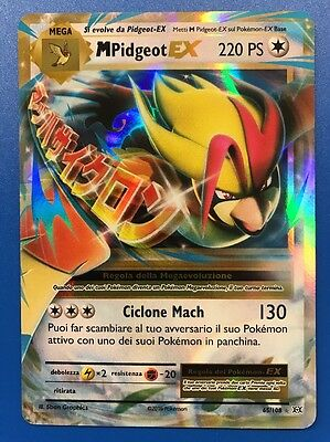 Mega M Pidgeot ex 65/108 220PS Carta Pokemon XY Evoluzioni in Italiano Rara Foil