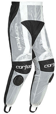 CORTECH Road Race Rain Pants for Motorcycle Track Suit (Clear) S (Small)