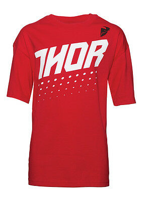 THOR MX Motocross Kids 2017 AKTIV Short Sleeve T-Shirt (Red Hther) Youth Medium
