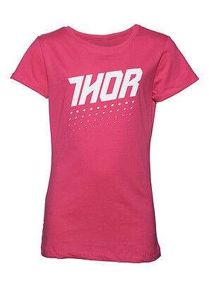 THOR MX Motocross Girls 2017 AKTIV Short Sleeve Tee T-Shirt (Hot Pink) 2T Youth
