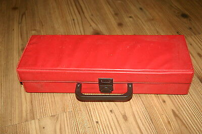 2x VINTAGE 1970-80s CASSETTE STORAGE CARRY CASES Holds aprx 16 +10 tapes  VGC