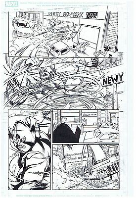 Spider-Man Original Comic Art Page Whirlwind Marvel Adventures #30 Page #7