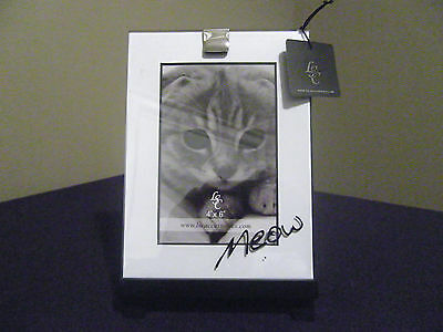 Cat LSC MEOW Easel Picture Frame NWT