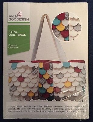 NEW Anita Goodesign Embroidery Machine Design CD PETAL QUILT BAGS