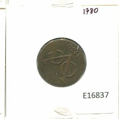 1780 West Friesland Voc Duit Netherlands Indies New York Colonial Penny E16837.7