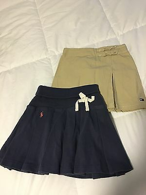 Lot Of Girls Polo Ralph Lauren Tommy Hilfiger Skirts Skorts Size 3 3T