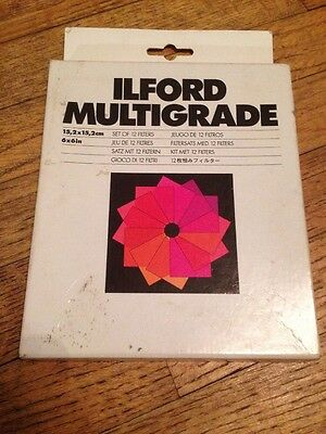 ILFORD MULTIGRADE Kit of 12 Filters for B&W Print Enlarger Cat 762617
