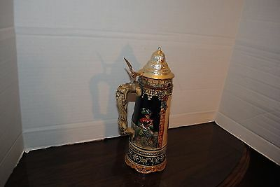 Antique Munich German Musical Stein With Olympic Rings Plays Somewhere My Love
