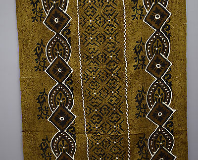 Mudcloth Mali African Hand Woven Brown White  Black