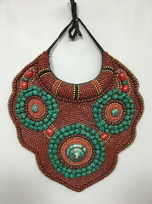 Tibetan Coral Turquoise Beaded Collar