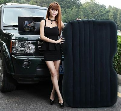 Car Travel PVC Inflatable Bed Airbed Overnighter Pump Tourism Outdoor Camping UK