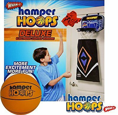 """Wham-O Deluxe Electronic Hamper Hoops with 5.5"""" Foam Basketball"""
