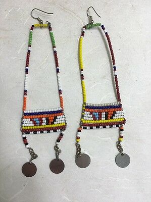 Masai African Beaded Dangle Earrings