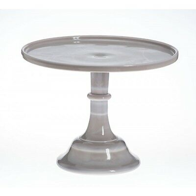 Mosser Milk Glass Cake Stand - Marble - 9 inch