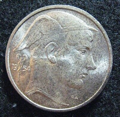 1954 Belgium 50 Francs Silver BU in Coin Alignment Nice !!