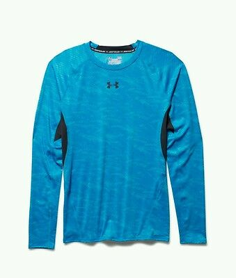 Under Armour HeatGear Compression Longsleeve XX Large Printed Blue/Black NWT