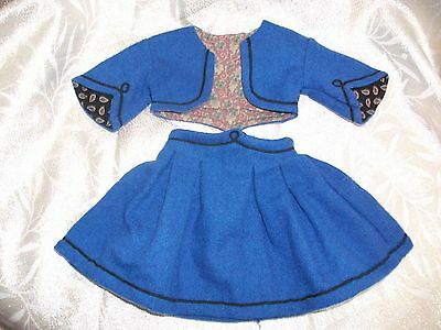American Girl Doll Clothing - Addy - 2 Pc. School Outfit- 1St Version Exc Cond.