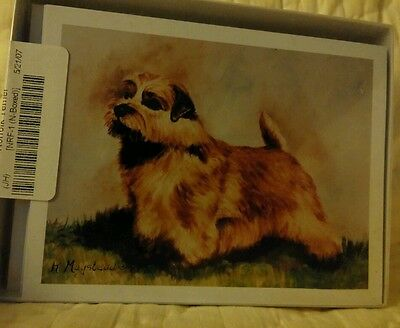 Norfolk Terrier dog note cards with envelopes by Ruth Maystead